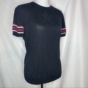 GIVENCHY Black Knit Short Sleeve Shirt - 46 XL/XXL